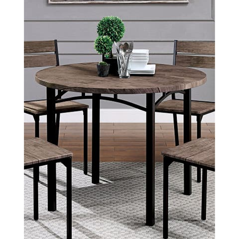 Carbon Loft Maggio Industrial 40-inch Antique Brown Round Dining Table