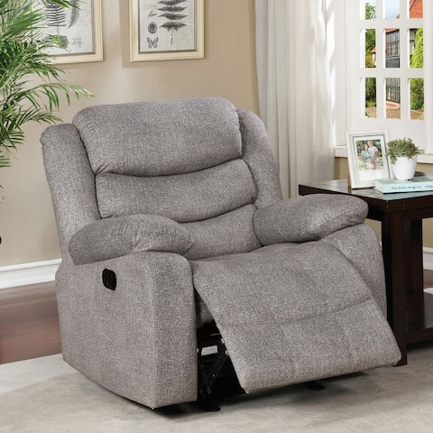 Furniture of America Izmail Light Grey Recliner
