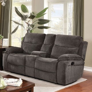 Copper Grove Novomosk Grey Reclining Loveseat