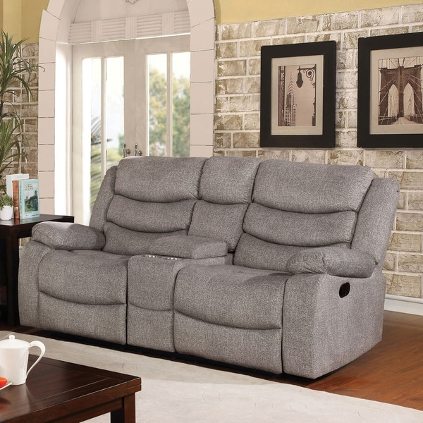 Copper Grove Izmail Light Grey Reclining Loveseat