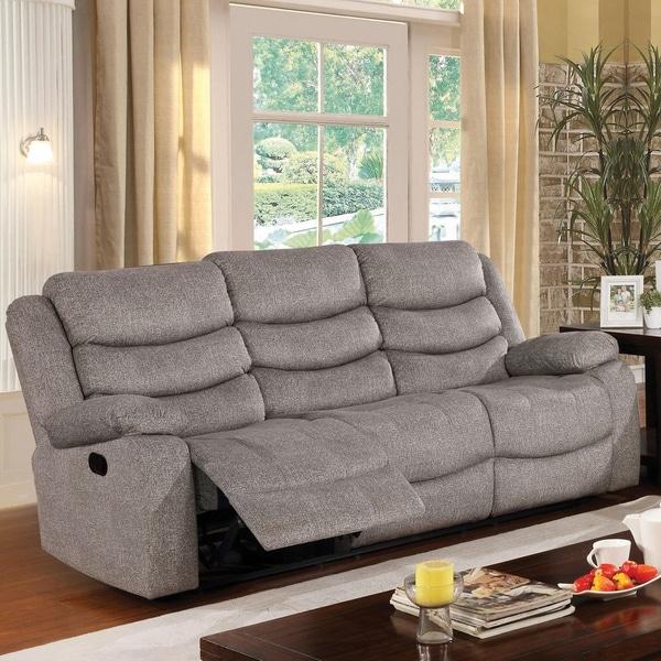 Copper Grove Izmail Light Grey Reclining Sofa