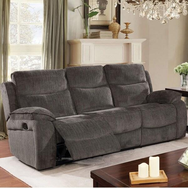 Copper Grove Novomosk Grey Reclining Sofa