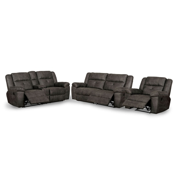 Copper Grove Feodosiya Dark Brown 3-piece Living Room Set