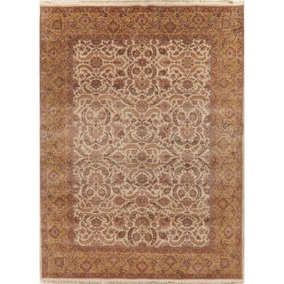 """Agra Oriental Hand Knotted Wool Traditional Indian Area Rug - 12'0"""" x 8'11"""""""