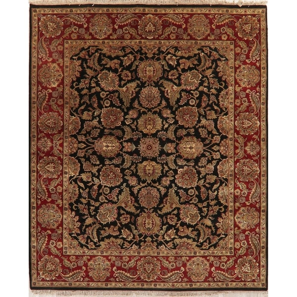 """Oriental Agra Hand Knotted Traditional Wool Indian Area Rug - 9'10"""" x 8'0"""""""