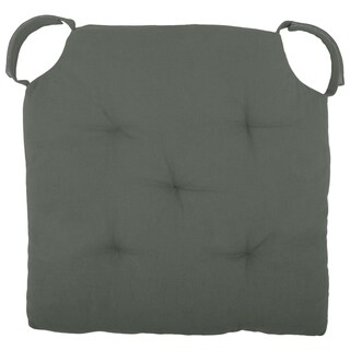 "Cottone Polyfill Fiber Chair Pads w/5 Velcro Tucks|18""x18"" Square Chair Pad|Extra-Comfortable & Soft Chair Cushion Pad,Grey"