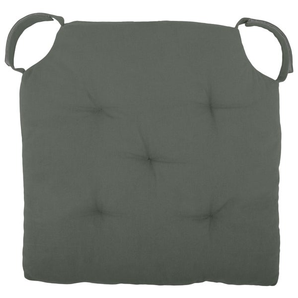 "Cottone Polyfill Fiber Chair Pads w/5 Velcro Tucks|18""x18"" Square Chair Pad
