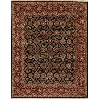 """Traditional Agra Oriental Hand-Knotted Wool Indian Area Rug - 10'0"""" x 7'11"""""""