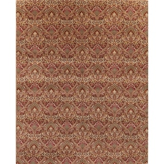 """Art & Craft Oriental Hand Knotted Wool Traditional Indian Area Rug - 11'9"""" x 8'0"""""""