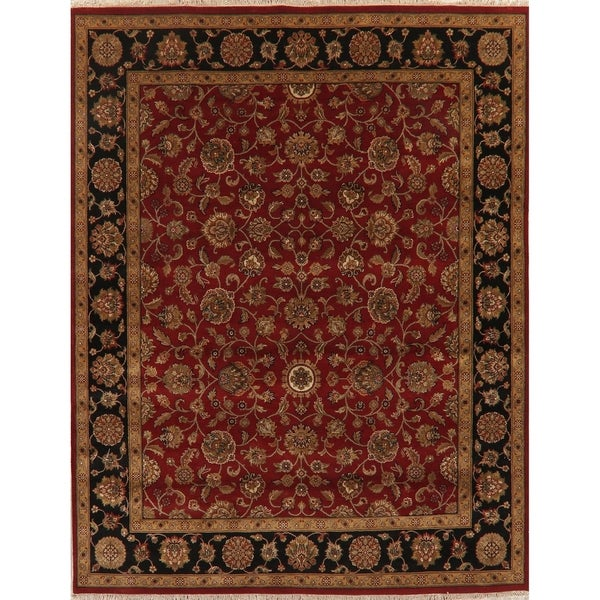 """Oriental Agra Hand Knotted Wool Traditional Indian Area Rug - 10'2"""" x 7'11"""""""
