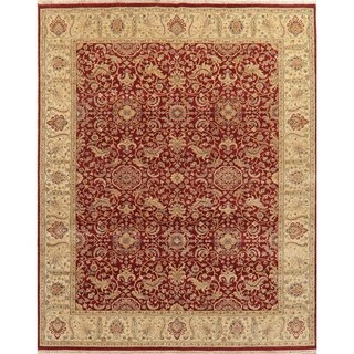 """Indian Agra Oriental Hand Knotted Traditional Wool Area Rug - 9'7"""" x 7'10"""""""