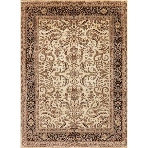 """Agra Oriental Traditional Hand-Knotted Wool Indian Area Rug - 12'0"""" x 8'10"""""""