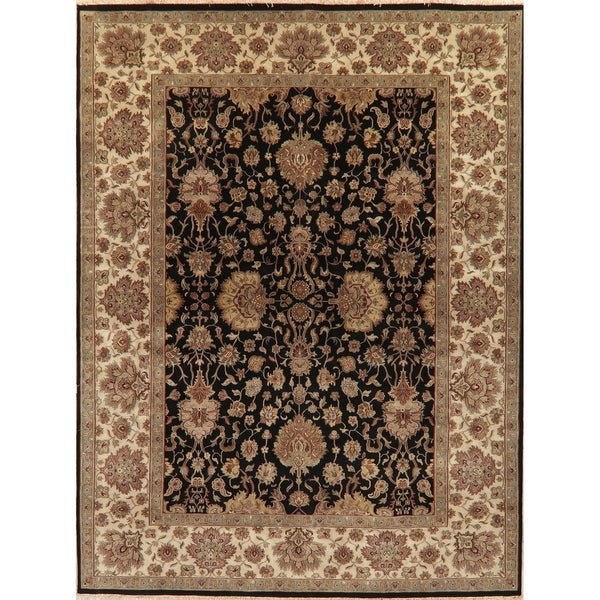 """Hand Knotted Agra Oriental Traditional Wool Indian Area Rug - 12'0"""" x 9'0"""""""