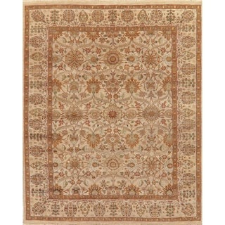 """Hand Knotted Agra Oriental Traditional Wool Indian Area Rug - 11'10"""" x 9'0"""""""