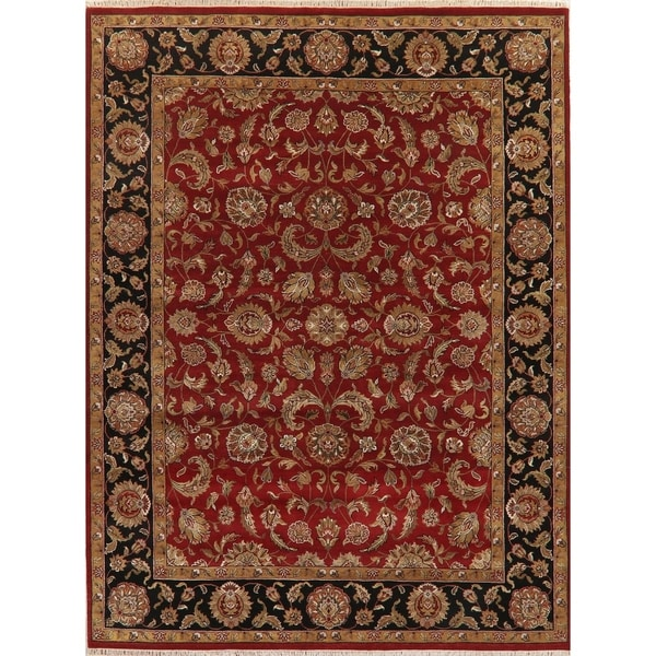 "Hand Knotted Agra Oriental Traditional Wool Indian Area Rug - 11'11"" x 8'11"""