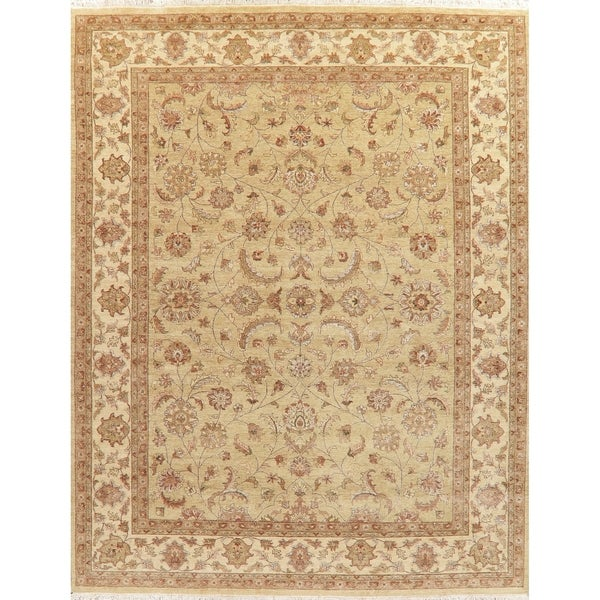 """Traditional Oushak Oriental Hand-Knotted Wool Indian Area Rug - 11'11"""" x 9'3"""""""