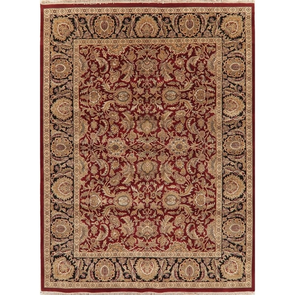 """Agra Traditional Oriental Hand-Knotted Wool Indian Area Rug - 12'0"""" x 8'10"""""""