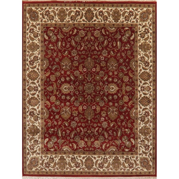 """Agra Traditional Oriental Hand Knotted Wool Indian Area Rug - 10'3"""" x 8'0"""""""