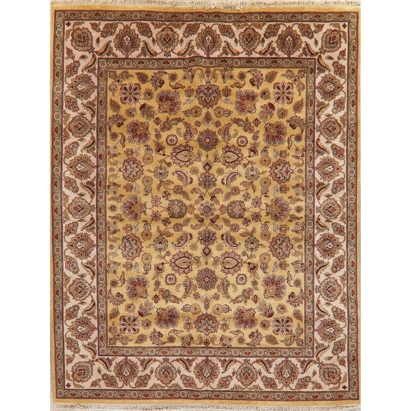 """Agra Oriental Hand Knotted Traditional Wool Indian Area Rug - 10'0"""" x 7'11"""""""