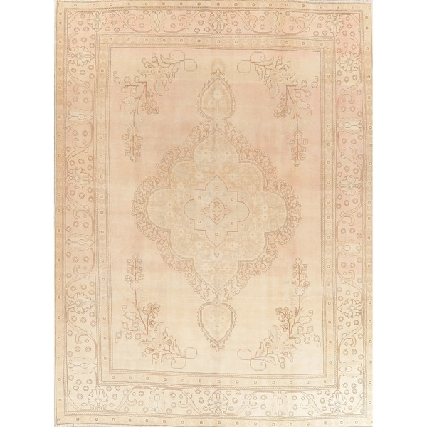 """Oriental Traditional Hand Knotted Muted Distressed Persian Area Rug - 12'5"""" x 9'2"""""""
