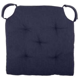 "Cottone Polyfill Fiber Chair Pads w/5 Velcro Tucks 18""x18"" Square Chair Pad Extra-Comfortable & Soft Chair Cushion Pad,Navy"