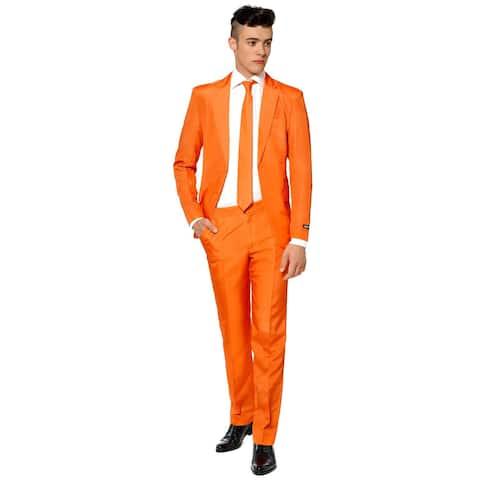 Suitmeister Men's Solid Orange Color Suit