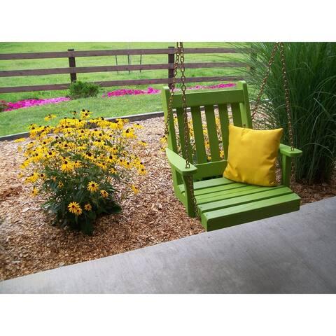 2 Foot Outdoor Pine Swing Chair
