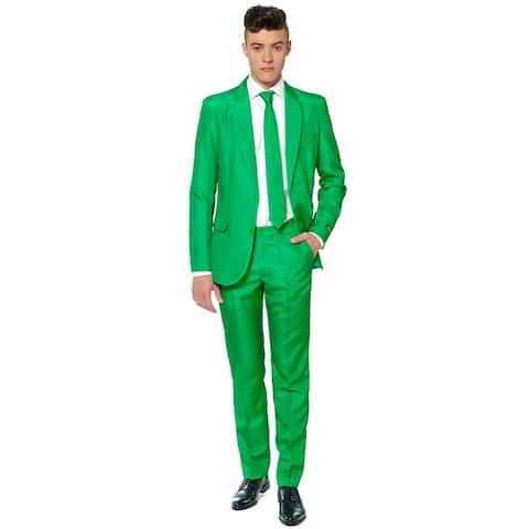 Suitmeister Men's Solid Green Color Suit