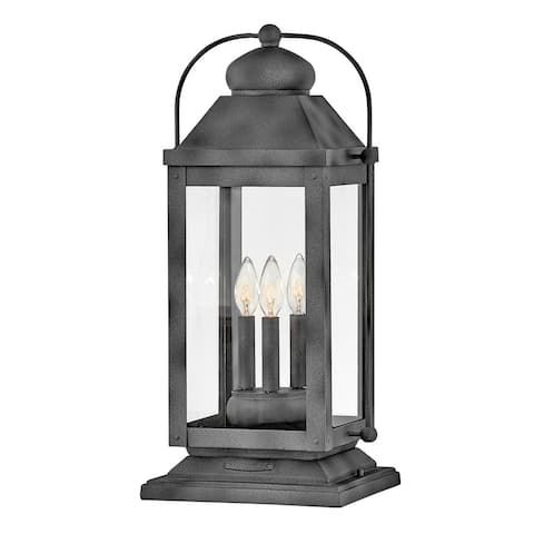 Hinkley Anchorage 3-Light in Aged Zinc