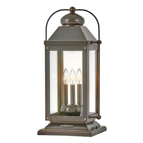 Hinkley Anchorage 3-Light in Light Oiled Bronze