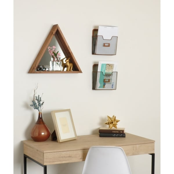 Triangle Wood Mirror
