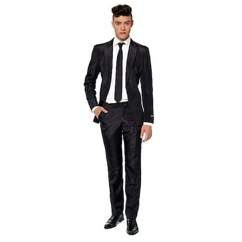 Suitmeister Men's Solid Black Color Suit