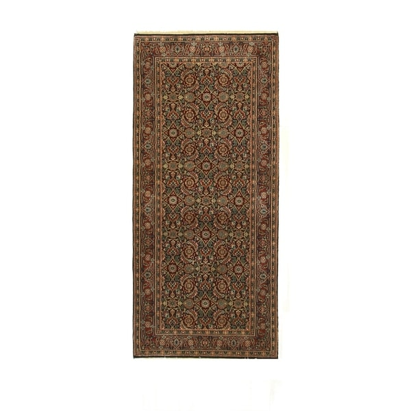 Navy/rust Hand-knotted Wool Traditional Oriental Herati Rug - 2' 9 x 6'