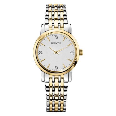 Bulova Women's 98P115 Two-Tone Stainless Diamond Accent Bracelet Watch