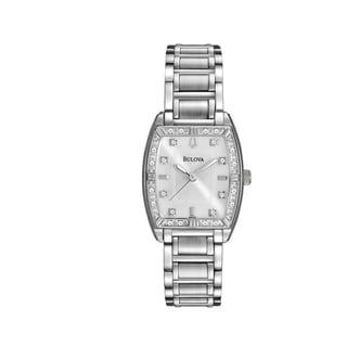 Bulova Women's 96R162 Stainless Diamond Bezel Bracelet Watch