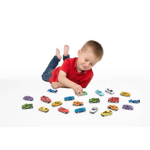 Speedsterz 21 Piece Realistic Die Cast Car Collection Play Set