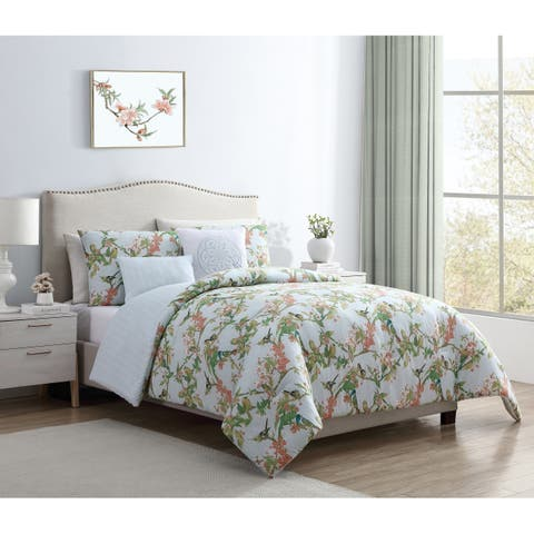 VCNY Home Chelsea Springs Reversible Floral Comforter Set