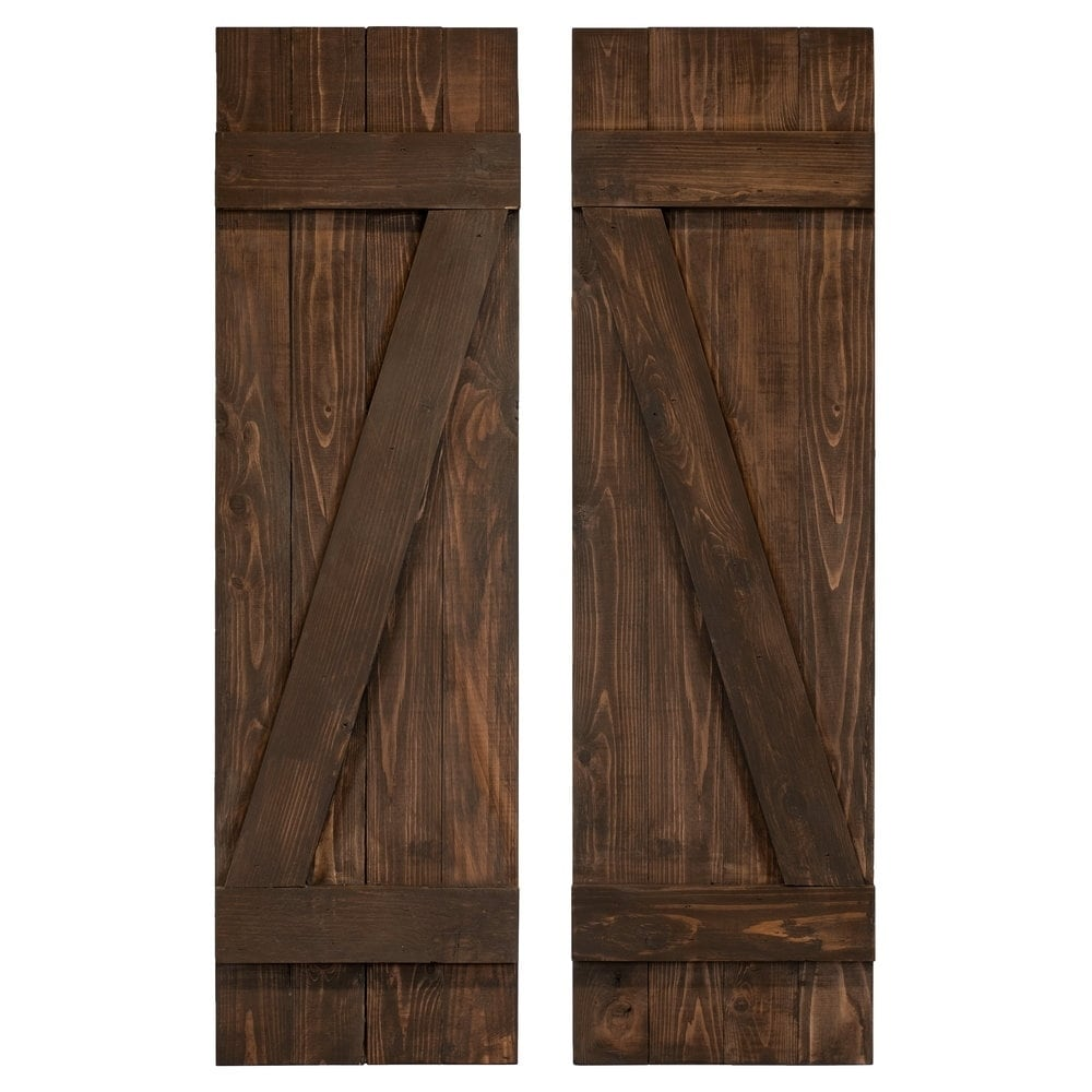 Z Board Batten Exterior Shutters Pair 28610973