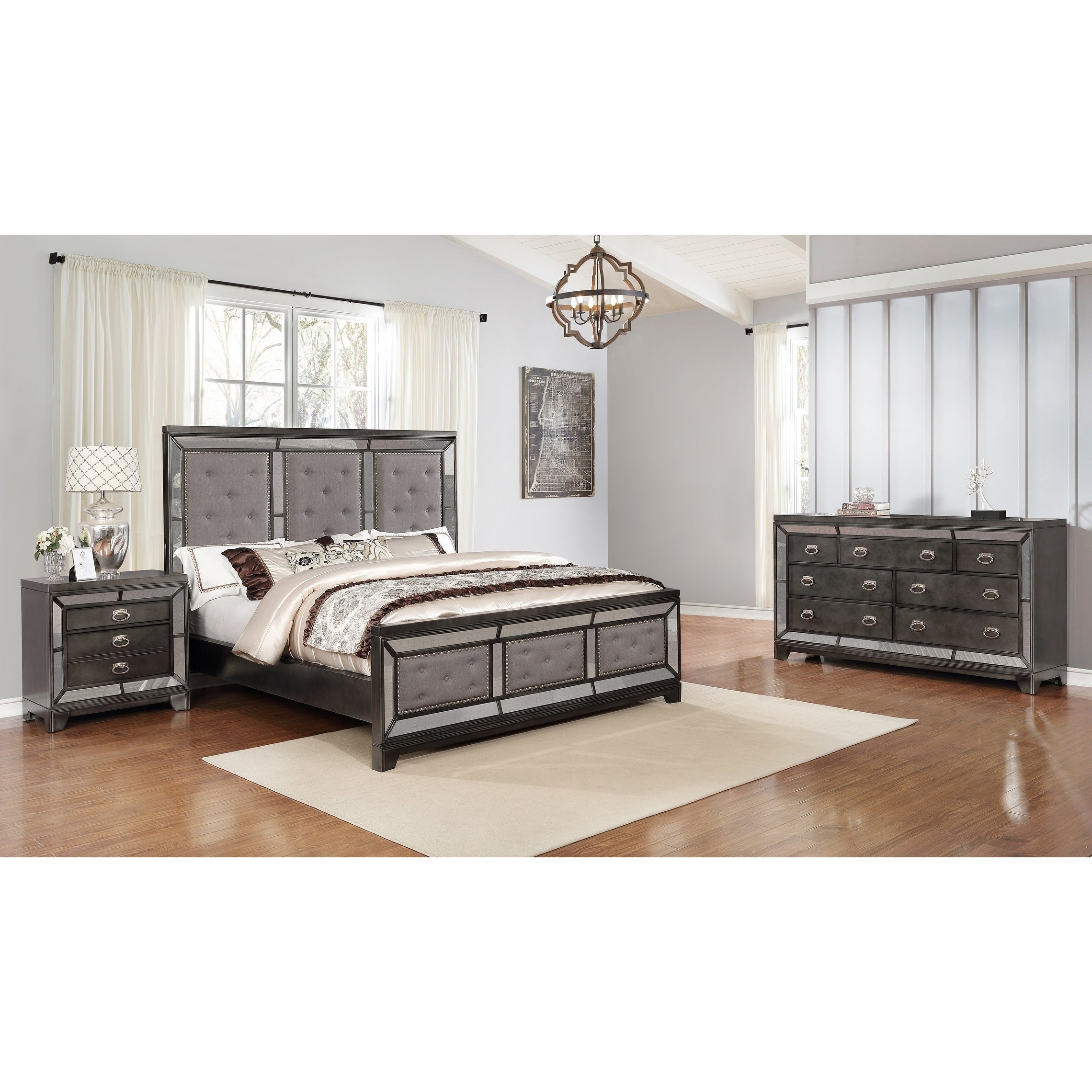 Shop Best Quality Furniture 3 Piece Victoria Bedroom Set W Extra