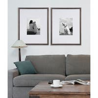DesignOvation Gallery Wood Wall Picture Frame, Set of 2