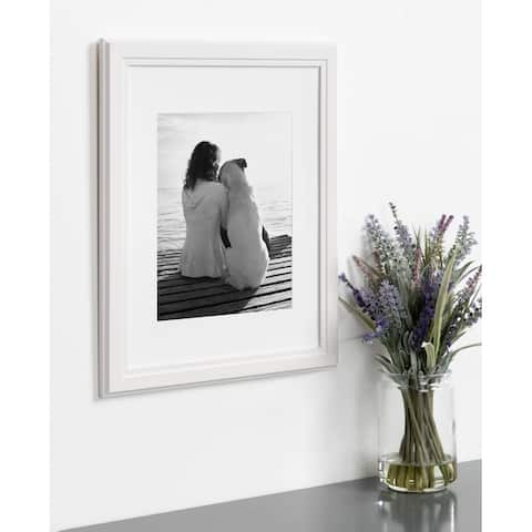 DesignOvation Kieva 11x14 matted to 8x10 Wood Picture Frame, Set of 4