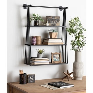 Kate and Laurel  Nevin Wall-Mounted Hanging Shelf - 23x30