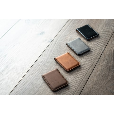 Caddy Bay Collection Vegan Leather Money Clip - 4 Colors
