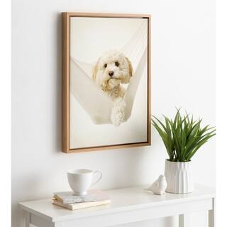 DesignOvation Sylvie Ruby Dog Framed Canvas by Rachael Hale
