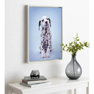 DesignOvation Sylvie Fig Dalmatian Dog Framed Canvas by Rachael Hale