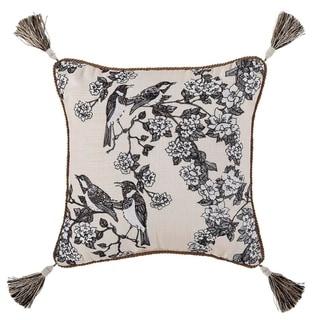 Croscill Philomena 16 Inch Embroidered Floral Fashion Pillow