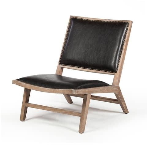 Carbon Loft Kirby Handmade Lounge Distressed Leather Chair (Vietnam)