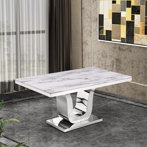 Best Quality Furniture Marble Top Dining Table - White