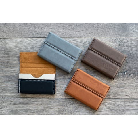 Caddy Bay Collection Vegan Leather Business Card Holder - 4 Colors