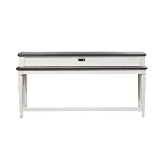 Allyson Park Wirebrushed White Console Bar Table